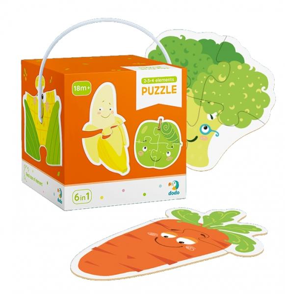 Puzzle 2-3-4: Owoce i warzywa (DOP300155)
