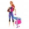 Barbie - Zestaw Relaks na siłowni Lalka z pieskiem i akcesoriami