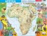 Puzzle ramkowe 72: Afryka - mapa fizyczna