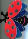 Naklejka dekoracyjna 3D duża Biedronka w locie