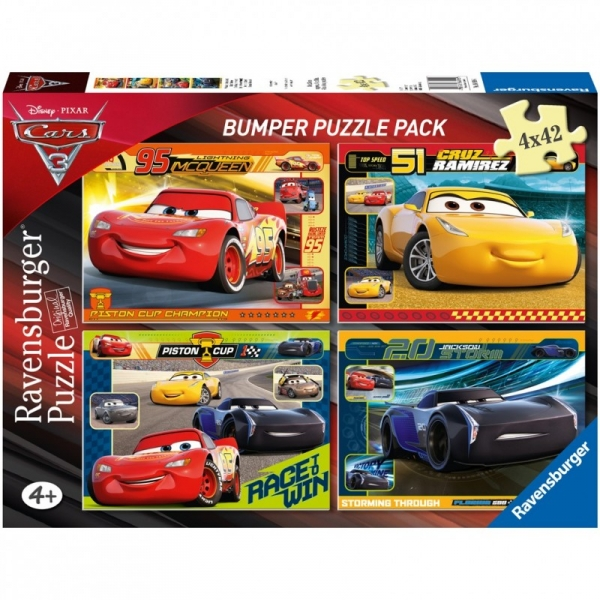 4X42 Elementy Puzzle Auta 3 (068906)