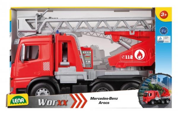 Pojazd Worxx Straż Pożarna z drabiną Mercedes w pudełku (04615)