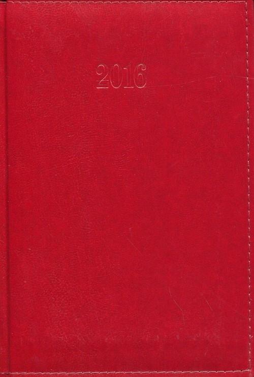 Kalendarz 2016 Książkowy tygodniowy A5 Lux czerwony