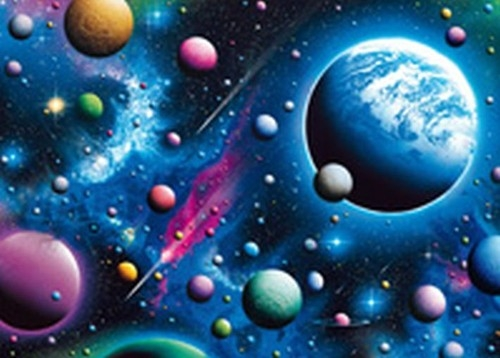 Puzzle Schmidt 2000 elementów Urzekający kosmos