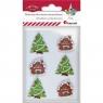 Dekoracje drewniane samoprzylepne świąteczne (414462)