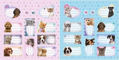 Naklejki na zeszyty Sweet Pets