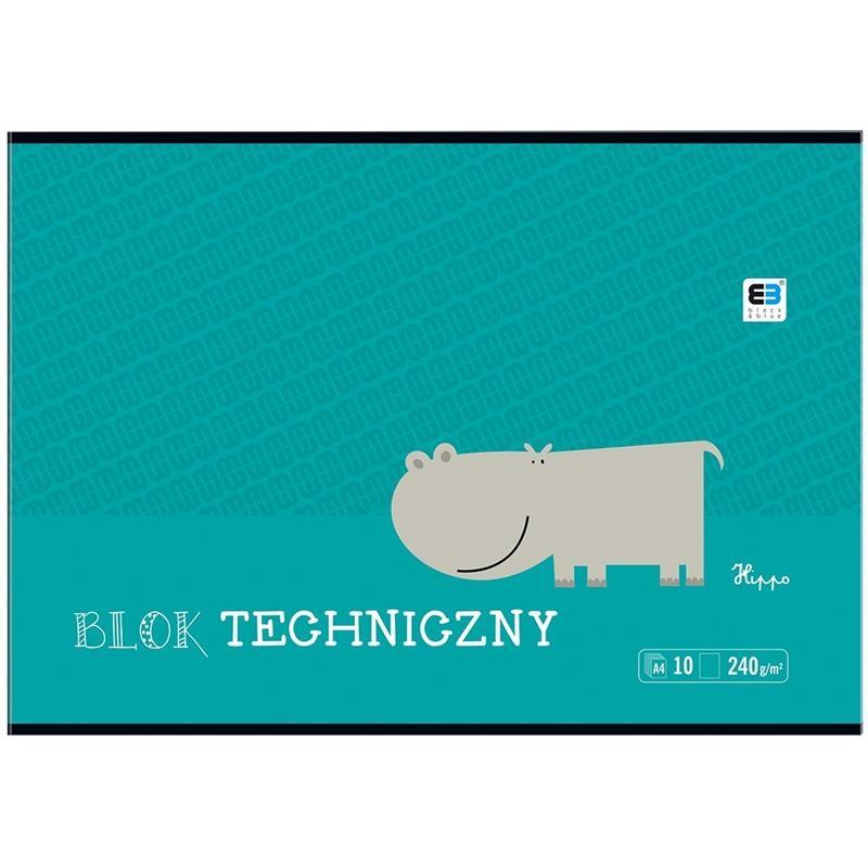 Blok techniczny B&B Kids, A4/10k - biały (339214)