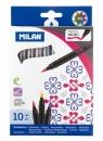 Flamastry Milan Brush 661 pędzelkowe - 10 kolorów (0612610)