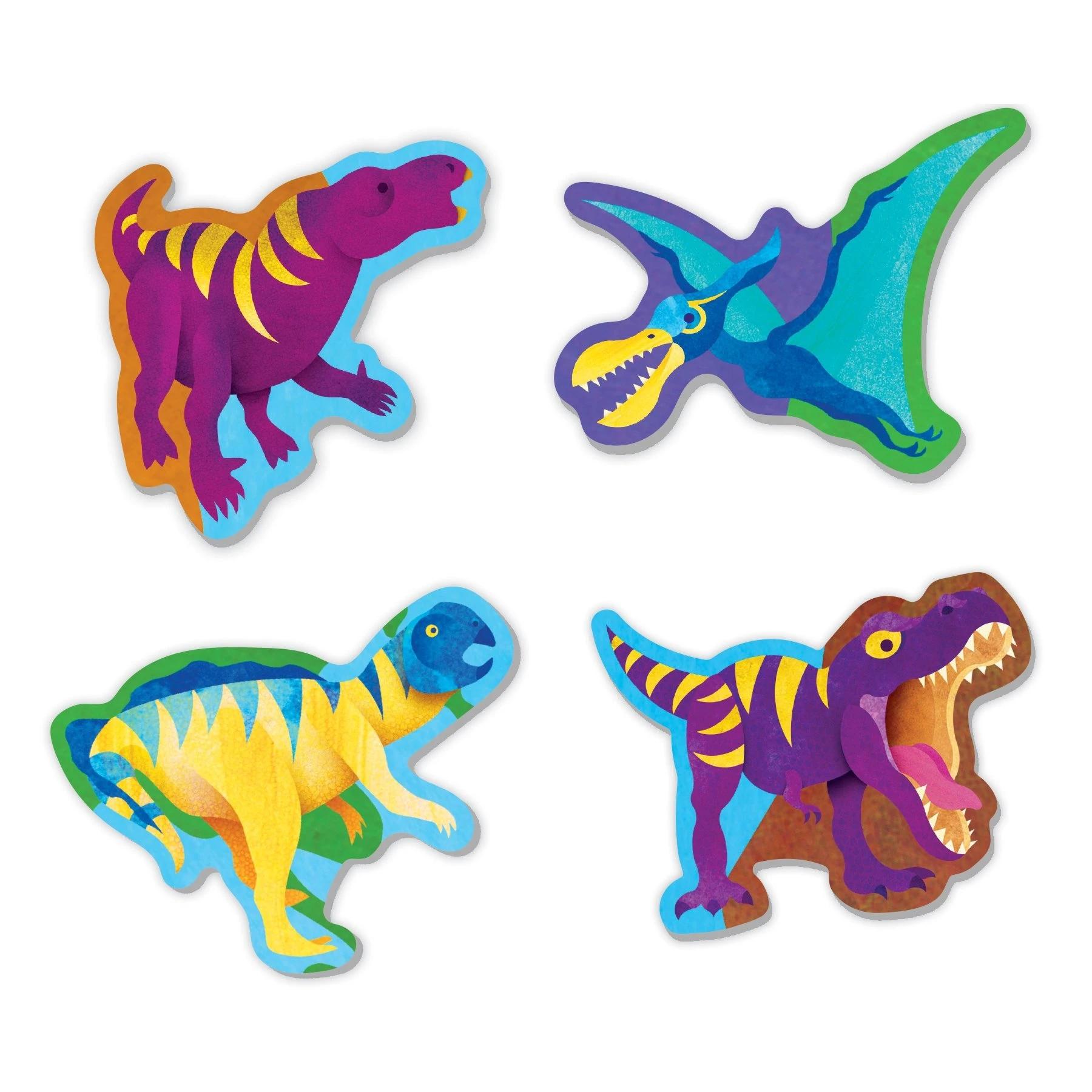 Mudpuppy, Puzzle 80: Świat dinozaurów z elementami w kształcie dinozaurów (MP67906)