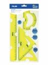 Zestaw elastycznych linijek Milan ACID żółte (359801Y)