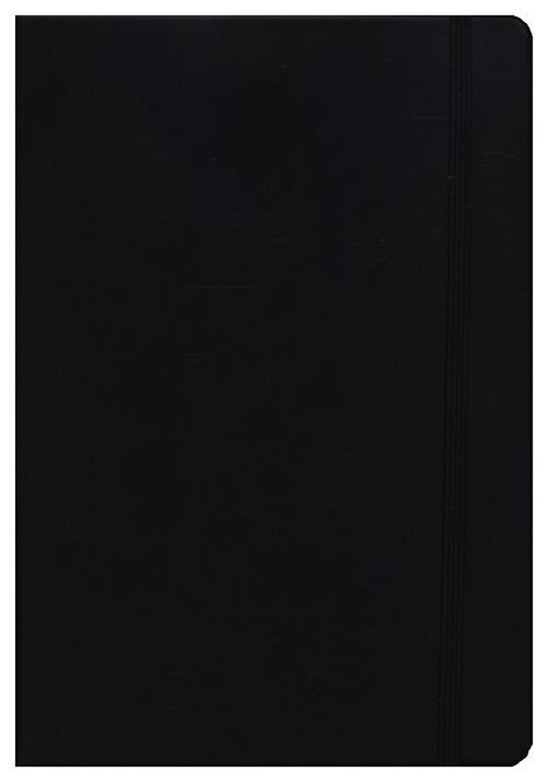 Leather Notebook Medium czarny kratka