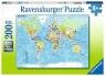 Puzzle XXL 200: Mapa świata (12890) Wiek: 8+