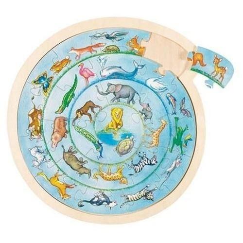 Okrągłe puzzle Parada zwierząt