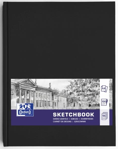 Szkicownik Oxford A4/96k - Czarny (400152623)