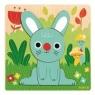 Puzzle drewniane Niebieski królik