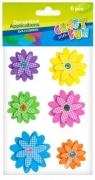 Ozdoba dekoracyjna samoprzylepne kwiaty pianka 6el