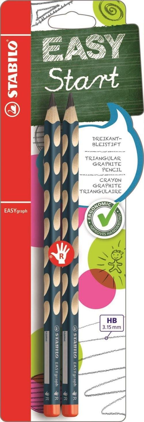 Ołówek Stabilo easygraph dla praworęcznych 2 sztuki