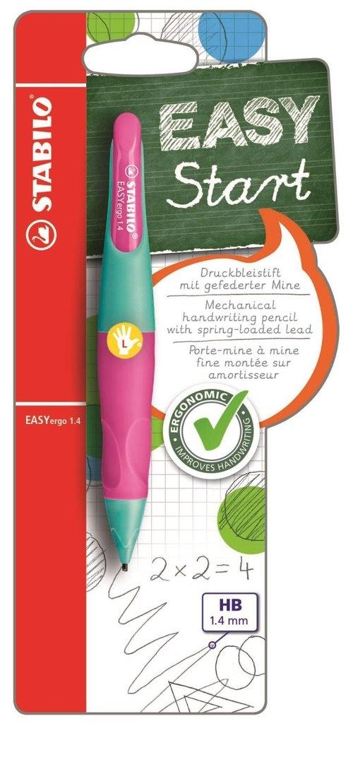 Ołówek Stabilo Easyergo 1,4 Start  dla leworęcznych turkusowo-różowy