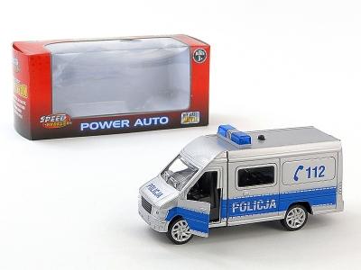Auto policyjne 14cm - metal