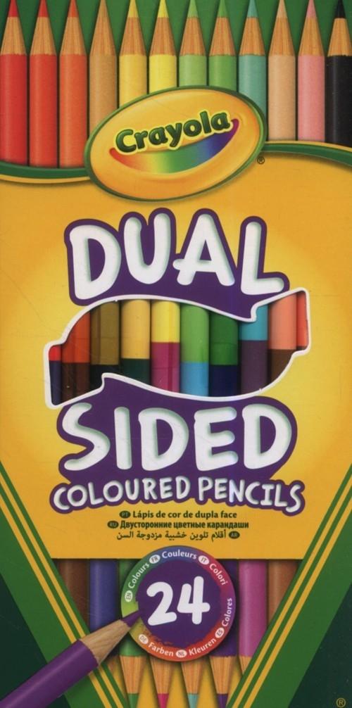 Dwustronne kredki ołówkowe Crayola 24 kolory 12 sztuk