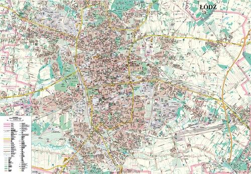 Łódź mapa  plastik