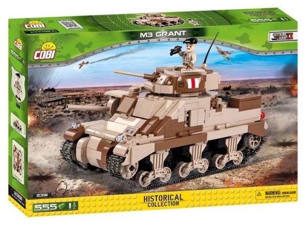 Cobi: Mała Armia WWII. M3 Grant - amerykański czołg średni (2391)