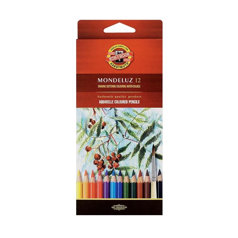 Kredki akwarelowe Mondeluz 3716, 12 kolorów (11836)