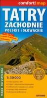 Tatry Zachodnie Słowackie i Polskie mapa turystyczna laminowana 1:30 000