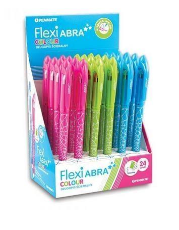 Długopis ścieralny Flexi Abra Colour(24szt)PENMATE