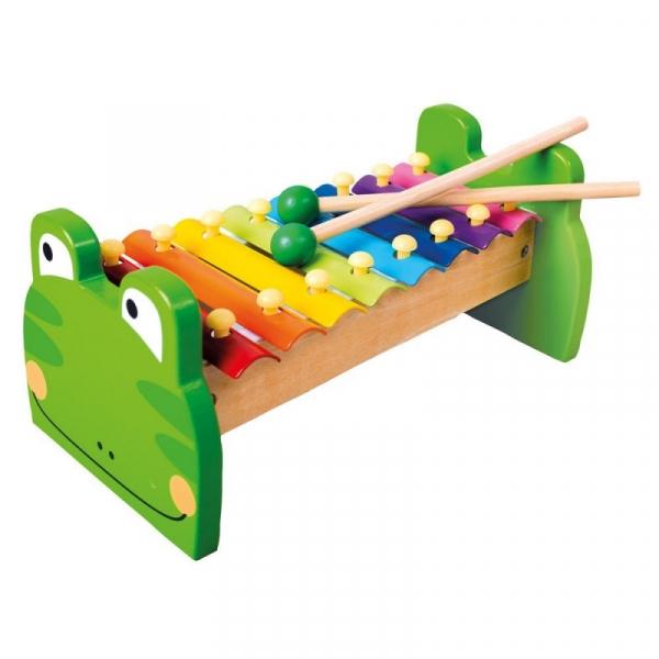 Drewniane cymbałki żaba (86591)