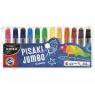 Pisaki Kidea Jumbo przezroczyste 12 kolorów w etui