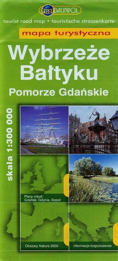Wybrzeże Bałtyku Pomorze Gdański mapa turystyczna