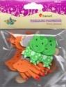 Naklejki piankowe: zwierzęta (sarny, misie, szopy, żaby), mix rozmiarów i kolorów  (EB648)