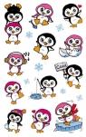Naklejki foliowe metaliczne - pingwinki