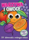 Kolorowanka z oczkami Warzywa i owoce