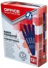 Marker permanentny OFFICE PRODUCTS, okrągły, 1-3mm (linia), niebieski 12 sztuk