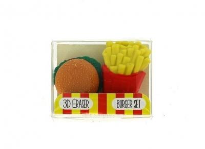 Gumki do mazania - mały zestaw fast food