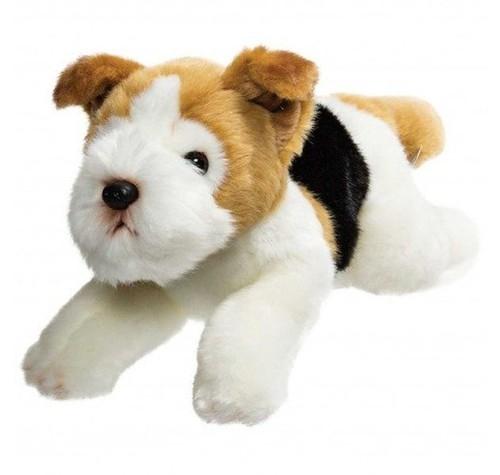 Leżący pies fox terrier 30 cm