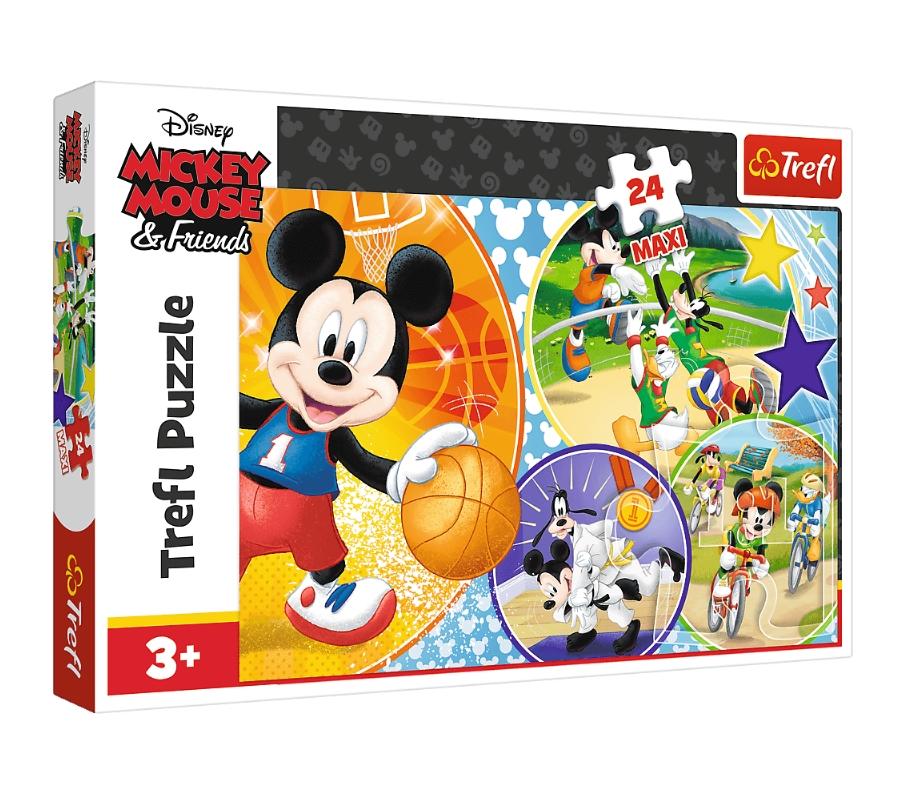 Puzzle Maxi 24: Myszka Mickey - Czas na sport (14291)