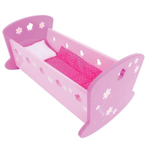 Kołyska dla lalek różowa