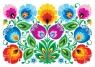 Pocztówka - Nr 5 Kodra z kwiatami biała FOLKSTAR