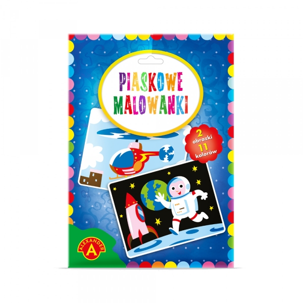 Piaskowe Malowanki - astronauta, helikopter (2091)