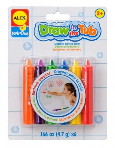 Zabawki do kąpieli - kredki do rysowania w wannie