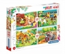 Puzzle 4w1 2x20 + 2x60 SuperColor - The Farm (21304) Wiek: 3+