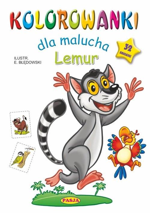 Kolorowanki dla malucha Lemur Błędowski Ernest