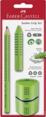 Zestaw Jumbo Grip Set jasnozielony 1xołówek grip +gumka grip +temperówka grip (580091)