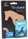 WoodLand Horse drewniana zakładka do książki - Koń