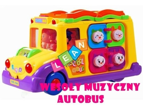 Interaktywny bajkowy autobus dla malucha z muzyką
