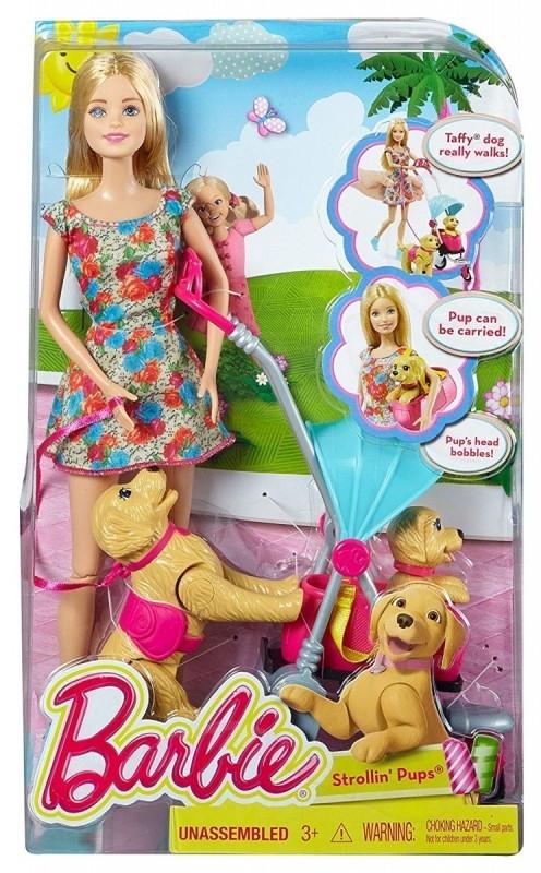 Lalka Barbie Spacer z pieskami (CNB21)