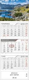 Kalendarz 2018 Trójdzielny Tatrzańskie Stawy